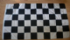Black and White Checkered Large Flag - 5' x 3'.